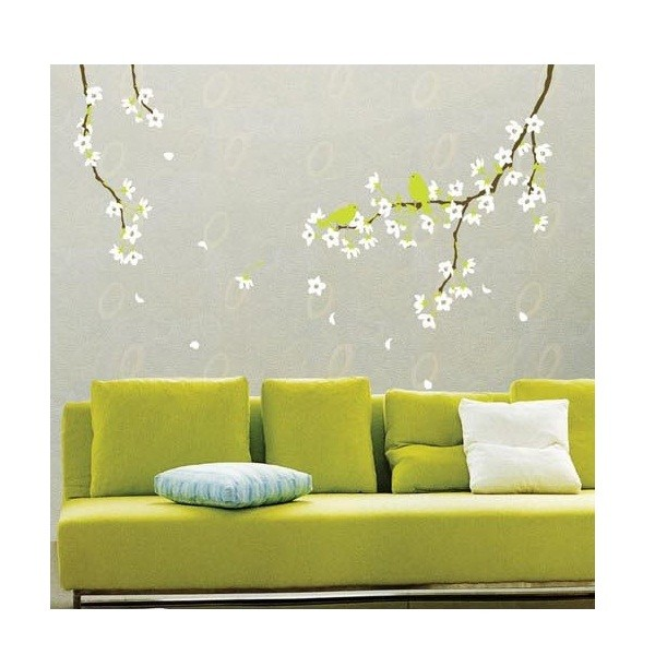 stickers muraux sticker mural ambiance stickers muraux fleurs poirier. Black Bedroom Furniture Sets. Home Design Ideas